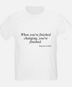 Benjamin Franklin quote 183 Kids T-Shirt