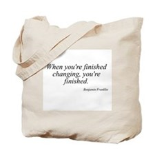 Benjamin Franklin quote 183 Tote Bag