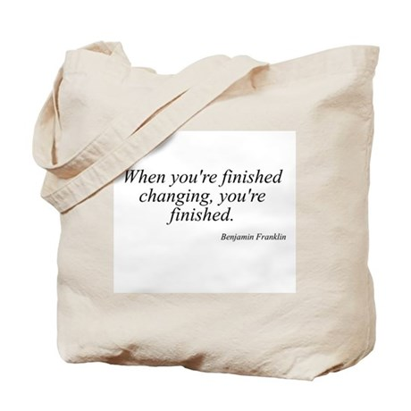 Benjamin Franklin quote 183 Tote Bag