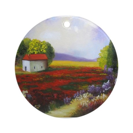 LANDSCAPE PAINTING Ornament (Round)