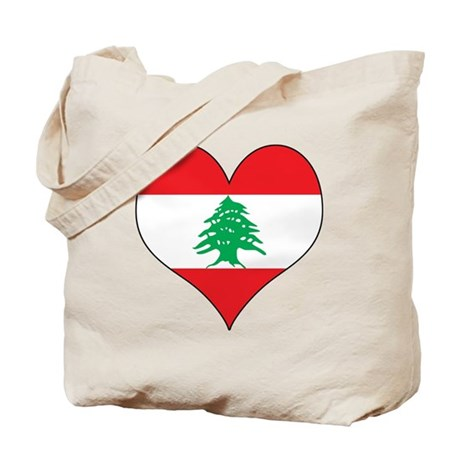 Lebanon Heart Tote Bag