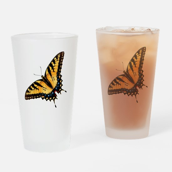 Tiger Swallowtail Butterfly Drinking Glass