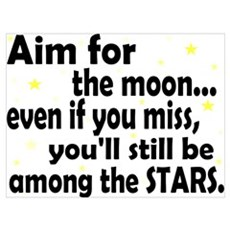 Aim for the Moon Framed Print