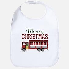 Firefighter Christmas Bib