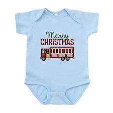 Firefighter Christmas Infant Bodysuit