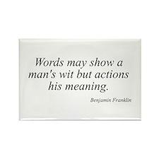 Benjamin Franklin quote 193 Rectangle Magnet