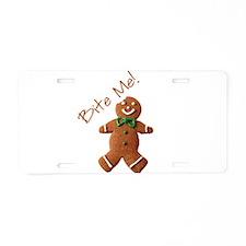 Cute Gingerbread Aluminum License Plate