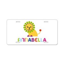 Annabella the Lion Aluminum License Plate