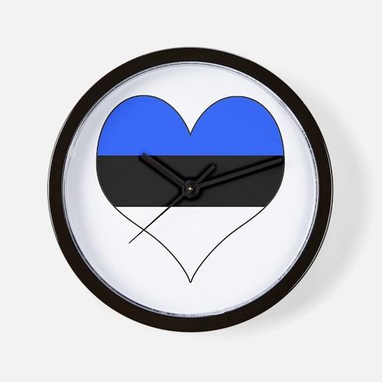 Estonia Heart Wall Clock