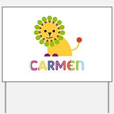 Carmen the Lion Yard Sign