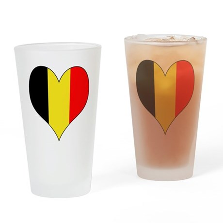 Belgium Heart Drinking Glass