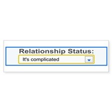 Relationship Status Complicated Bumper Sticker