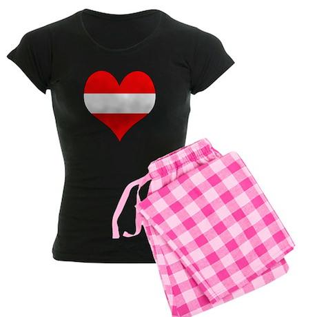 Austria Heart Women's Dark Pajamas