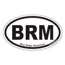 Blue Ridge Mountains BRM Euro Oval Decal