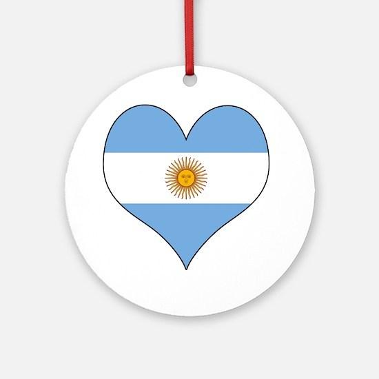 Argentina Heart Ornament (Round)