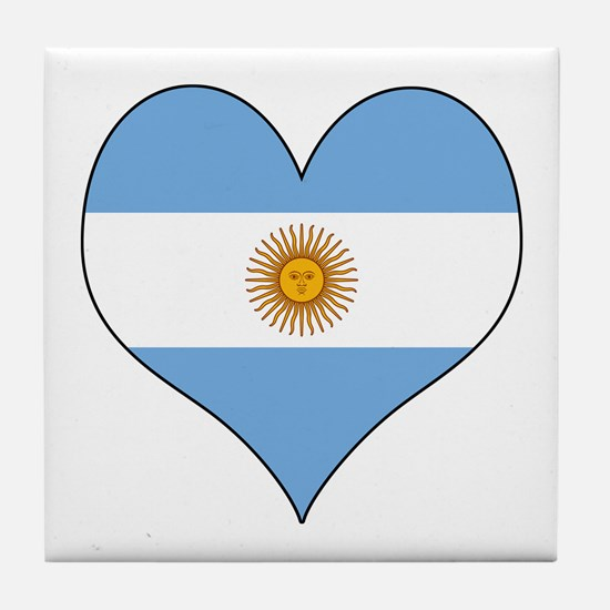 Argentina Heart Tile Coaster
