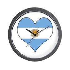 Argentina Heart Wall Clock
