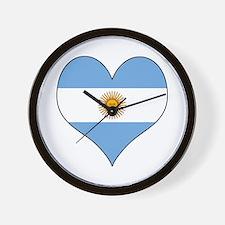 Argentina Heart Wall Clock
