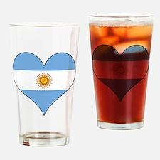 Argentina Heart Drinking Glass