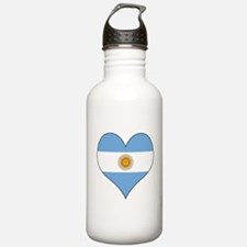 Argentina Heart Water Bottle