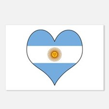 Argentina Heart Postcards (Package of 8)