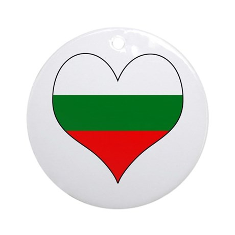 Bulgaria Heart Ornament (Round)
