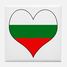Bulgaria Heart Tile Coaster