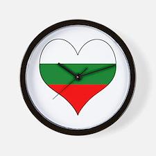 Bulgaria Heart Wall Clock