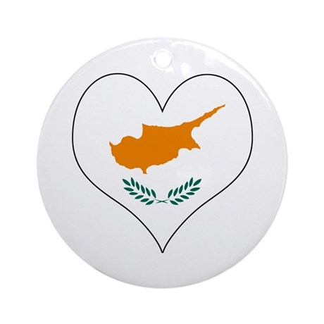 Cyprus Heart Ornament (Round)