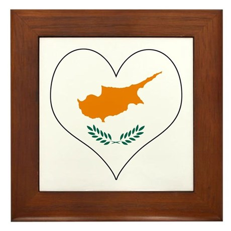 Cyprus Heart Framed Tile