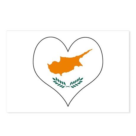 Cyprus Heart Postcards (Package of 8)
