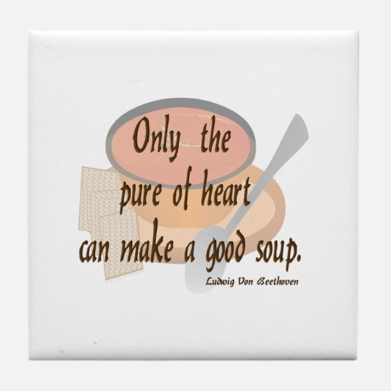 Good (tomato) Soup Tile Coaster