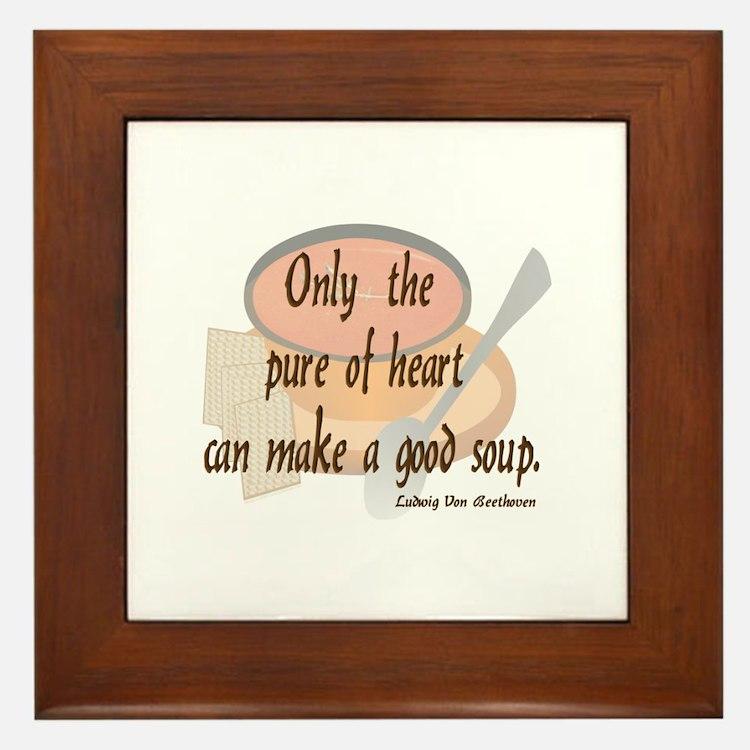 Good (tomato) Soup Framed Tile
