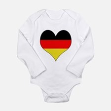 Germany Heart Onesie Romper Suit