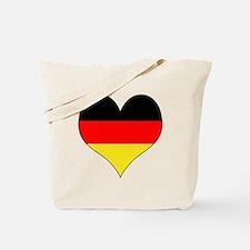 Germany Heart Tote Bag