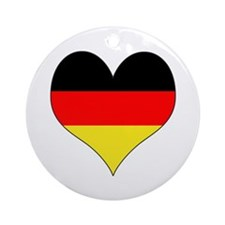 Germany Heart Ornament (Round)