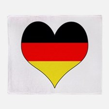 Germany Heart Throw Blanket