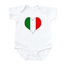 Italy Heart Infant Bodysuit
