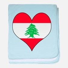 Lebanon Heart baby blanket