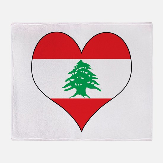 Lebanon Heart Throw Blanket