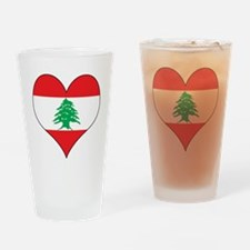 Lebanon Heart Drinking Glass