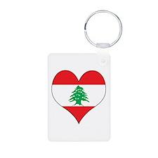 Lebanon Heart Keychains