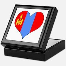 Mongolia Heart Keepsake Box