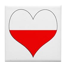Poland Heart Tile Coaster