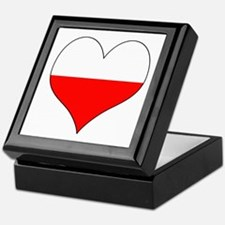 Poland Heart Keepsake Box
