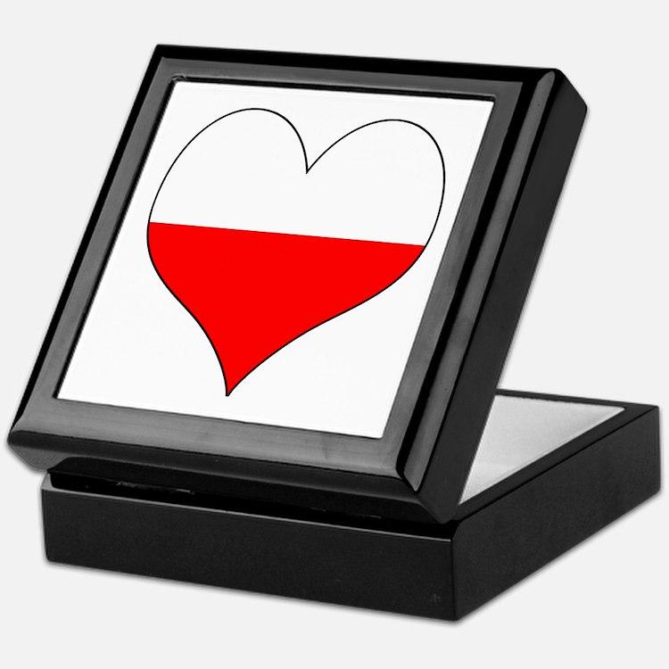 Poland Heart Keepsake Box