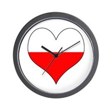 Poland Heart Wall Clock