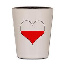 Poland Heart Shot Glass