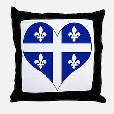 Quebec Heart Throw Pillow