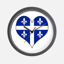 Quebec Heart Wall Clock